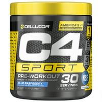 Cellucor C4 Sport Pre Workout Powder, Blue Raspberry, 30 Servings