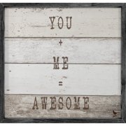 Forest Creations Magnet You and Me = Awesome Framed Textual Art
