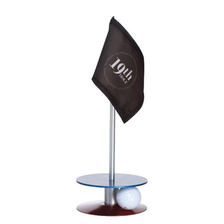Anne Stone Golf Putt-A-Round Putting Aid 19th Hole Flag Blue And Red Base