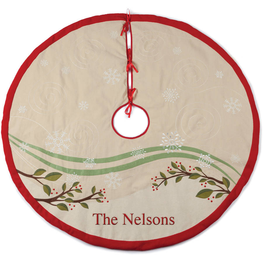 Personalized Forest Friends Tree Skirt