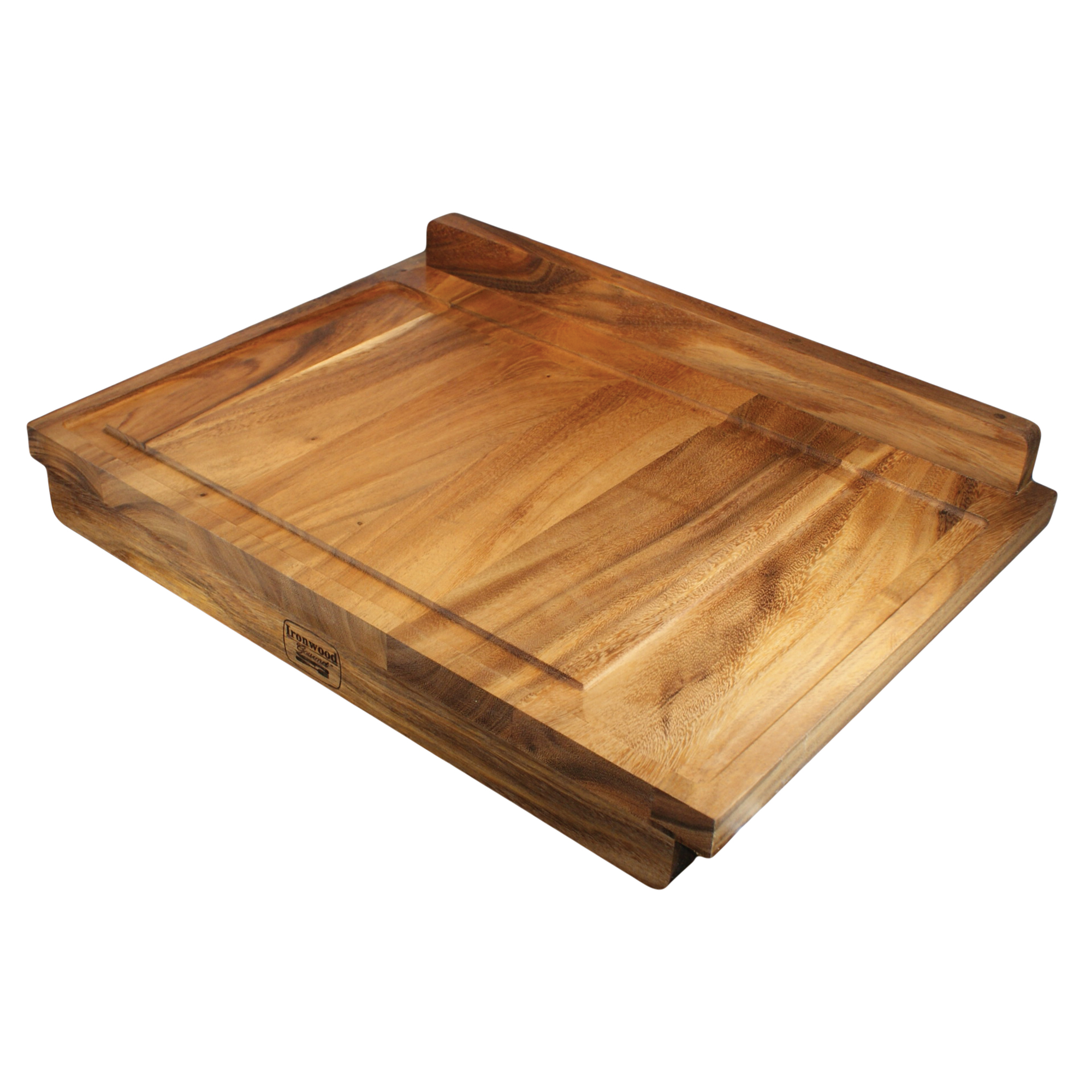 Double-Sided Countertop Pastry/Cutting Board Gravy Groove, Acacia Wood