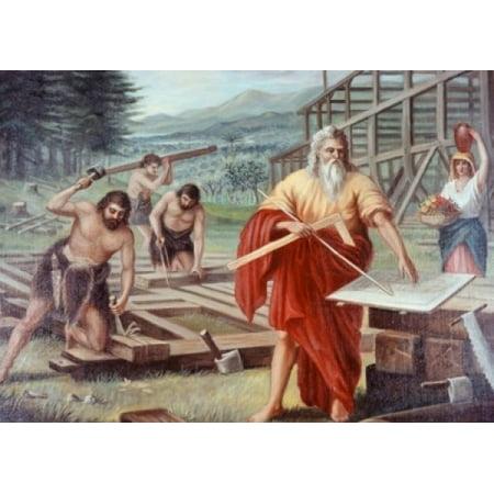 Noah Building the Ark Vittorio Bianchini Ackermann and Johnson LTD London Poster Print