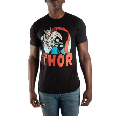 Thor Men's Super Vintage Short Sleeve Graphic T-Shirt, up to Size 3XL (Thor Suits)