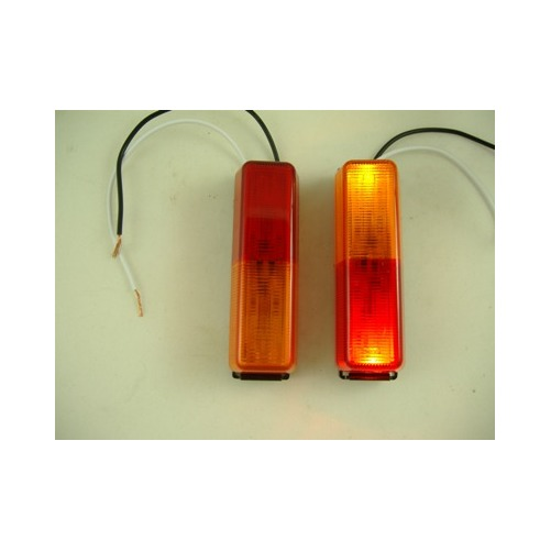 (2) Red Amber LED Trailer Fender Clearance Side Marker Lights by Peterson Mfg