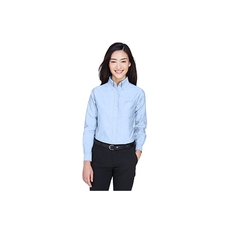 UltraClub Ladies' Classic Wrinkle-Resistant Long-Sleeve Oxford 8990 Classic Cotton Oxford Shirt