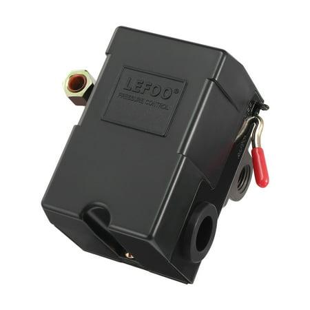 Unique Bargains AC240V 3A SPST NC Pressure Control Switch Valve 90-110 PSI for Air Compressor
