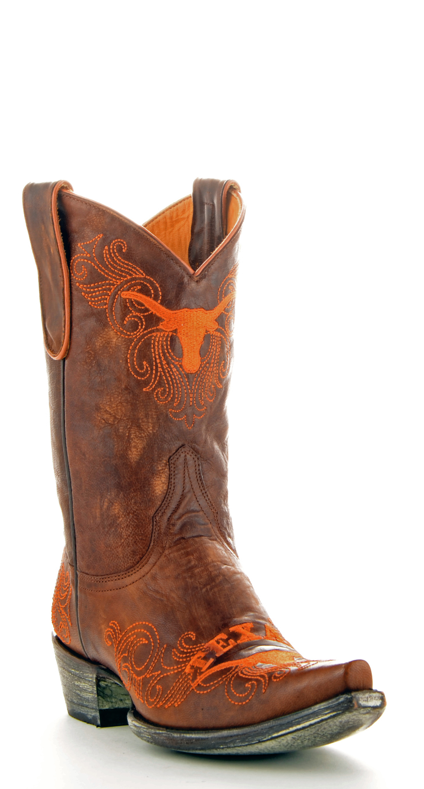 Gameday Boots Womens College Team Texas Longhorns Brass UT-L073-1 by Gameday Boots