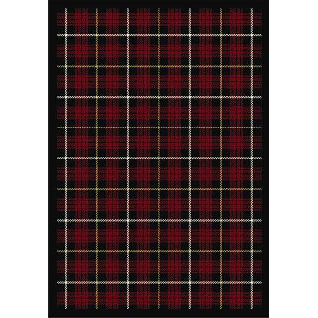 Joy Carpets 1511D-01 Bit O ft.  Scotch Lumberjack Red 7 ft. 8 inch x 10 ft. 9 inch 100 Pct.  STAINMASTER Nylon Machine Tufted-