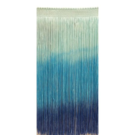 6 Inch Chainette Fringe Trim, Style# CF06 Color: Tie Dye Blue - TDD, Sold By the Yard