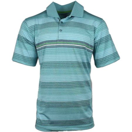 Page & Tuttle Mens Heather Texture Stripe  Golf Casual  Polo -