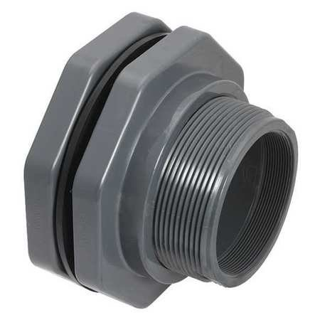 Threaded Bulkhead - Bulkhead Fitting,3 In,Socket x FNPT