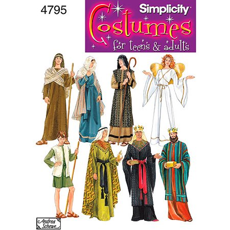 Simplicity Pattern Nativity Costumes, (XS, S, M, L, XL) - Elephant Halloween Costume Pattern