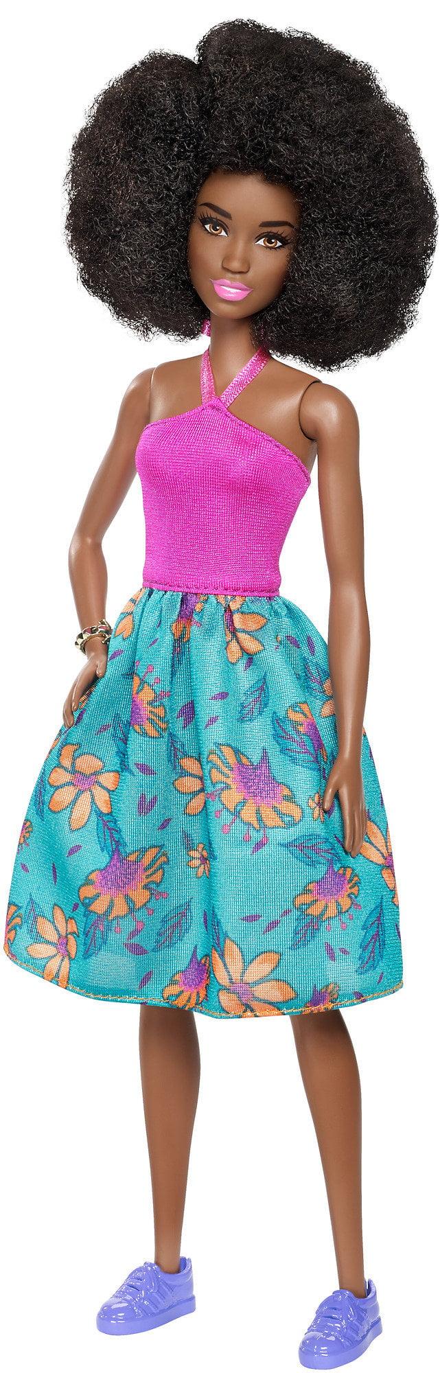 Barbie Fashionistas Doll Tropi-Cutie, Original Body, African American by Mattel