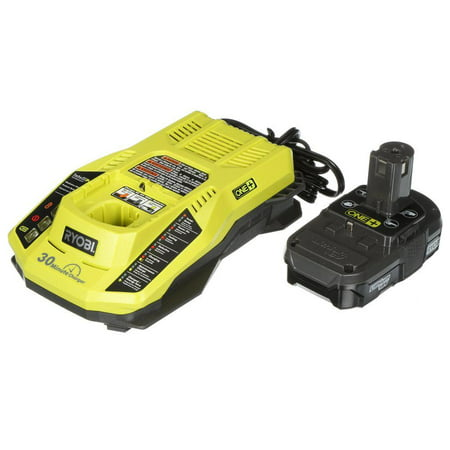 RYOBI ONE+ P128 18 VOLT LITHIUM ION P102 BATTERY AND P117 CHARGER COMBO