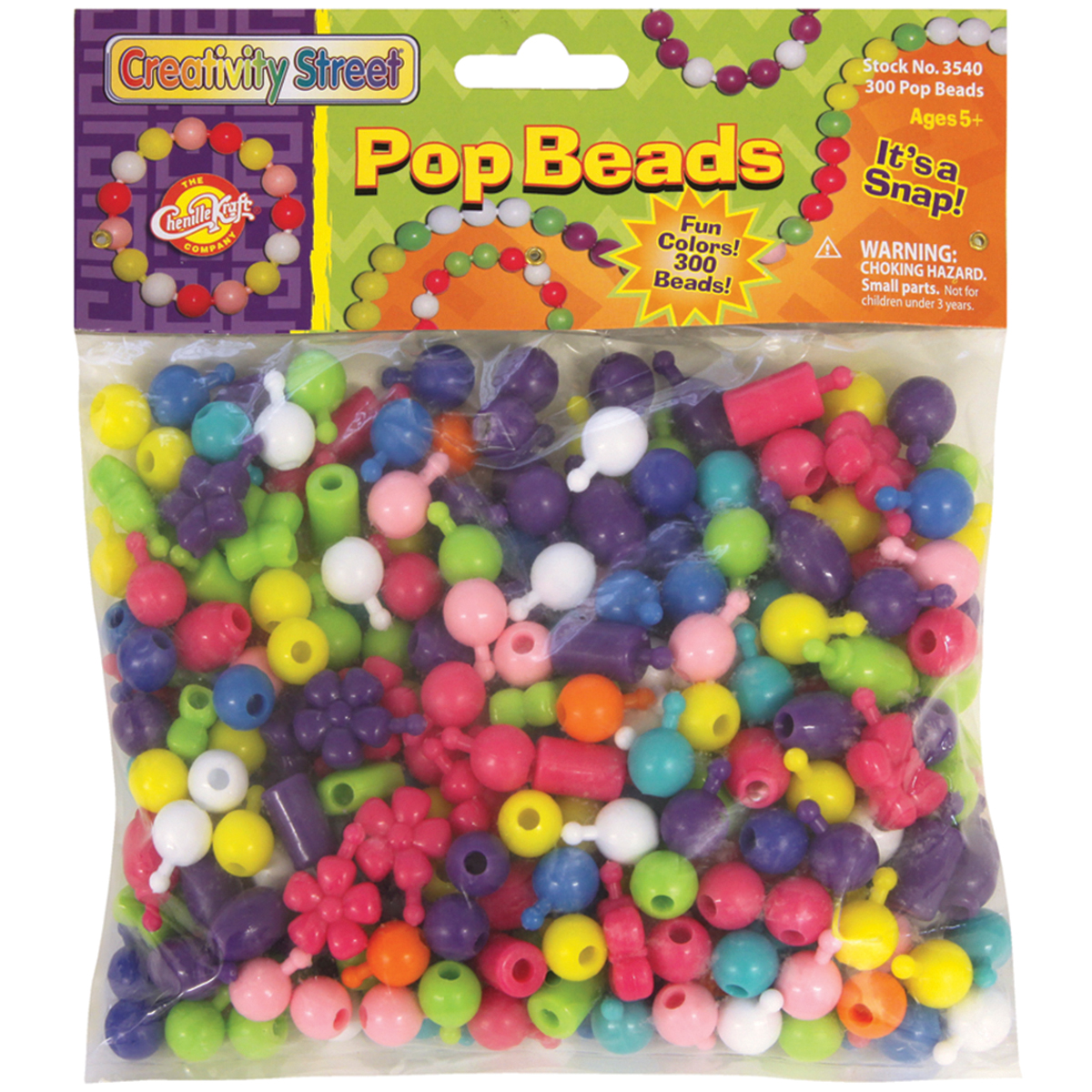 Pop Beads 300/Pkg-Assorted Shapes