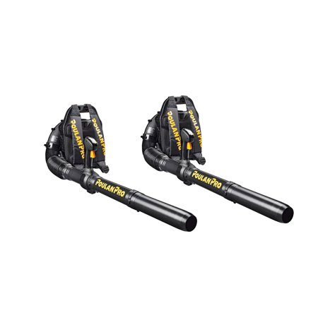 Poulan Pro 46cc Gas Backpack Yard Leaf Blower (2 Pack) (Certified