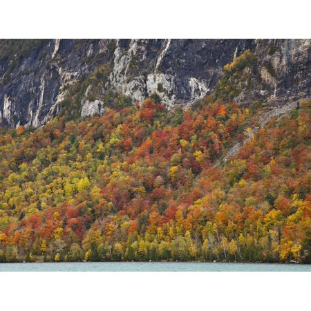 Fall Foliage on the Shore of Willoughby Lake, Vermont, USA Print Wall Art By Robert