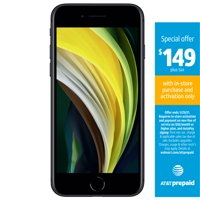AT&T PREPAID Apple iPhone SE 2020 64GB Black Prepaid Smartphone