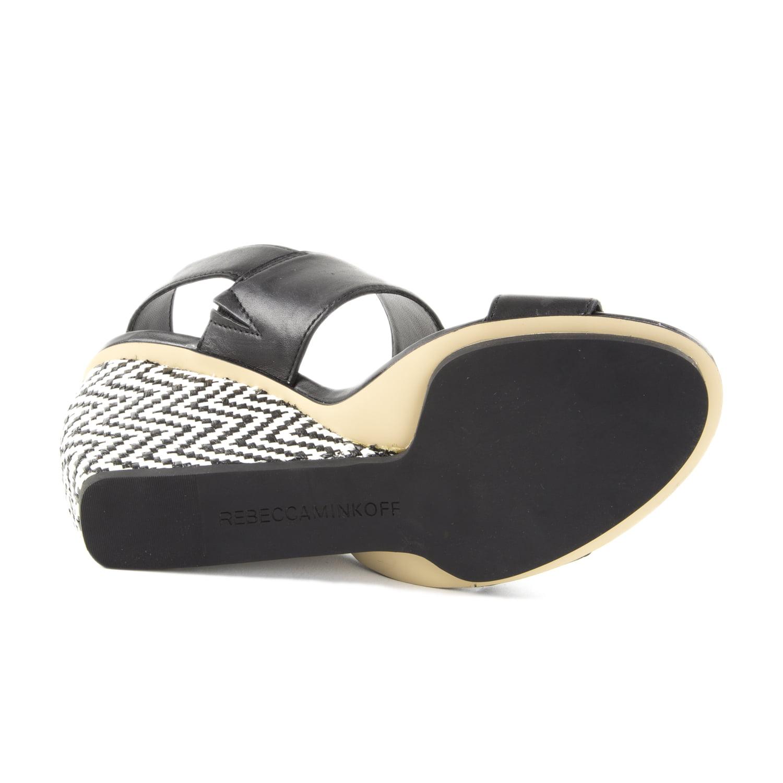 Rebecca Minkoff Women's Emilia Leather Wedge Sandals