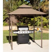 Double Roof Grill Shelter Gazebo, 8' x 5'