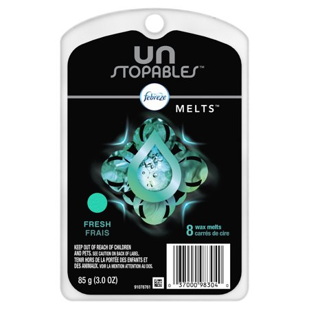 (2 pack) Febreze Unstopables Wax Melts, Air Freshener, FRESH, 16 wax melts