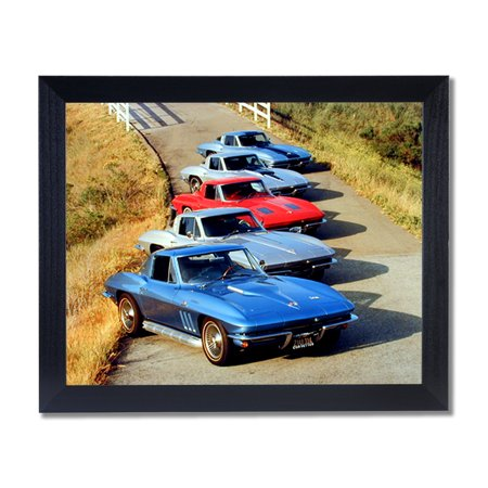Chevy Corvette Cars Club Room Wall Picture Black Framed Art