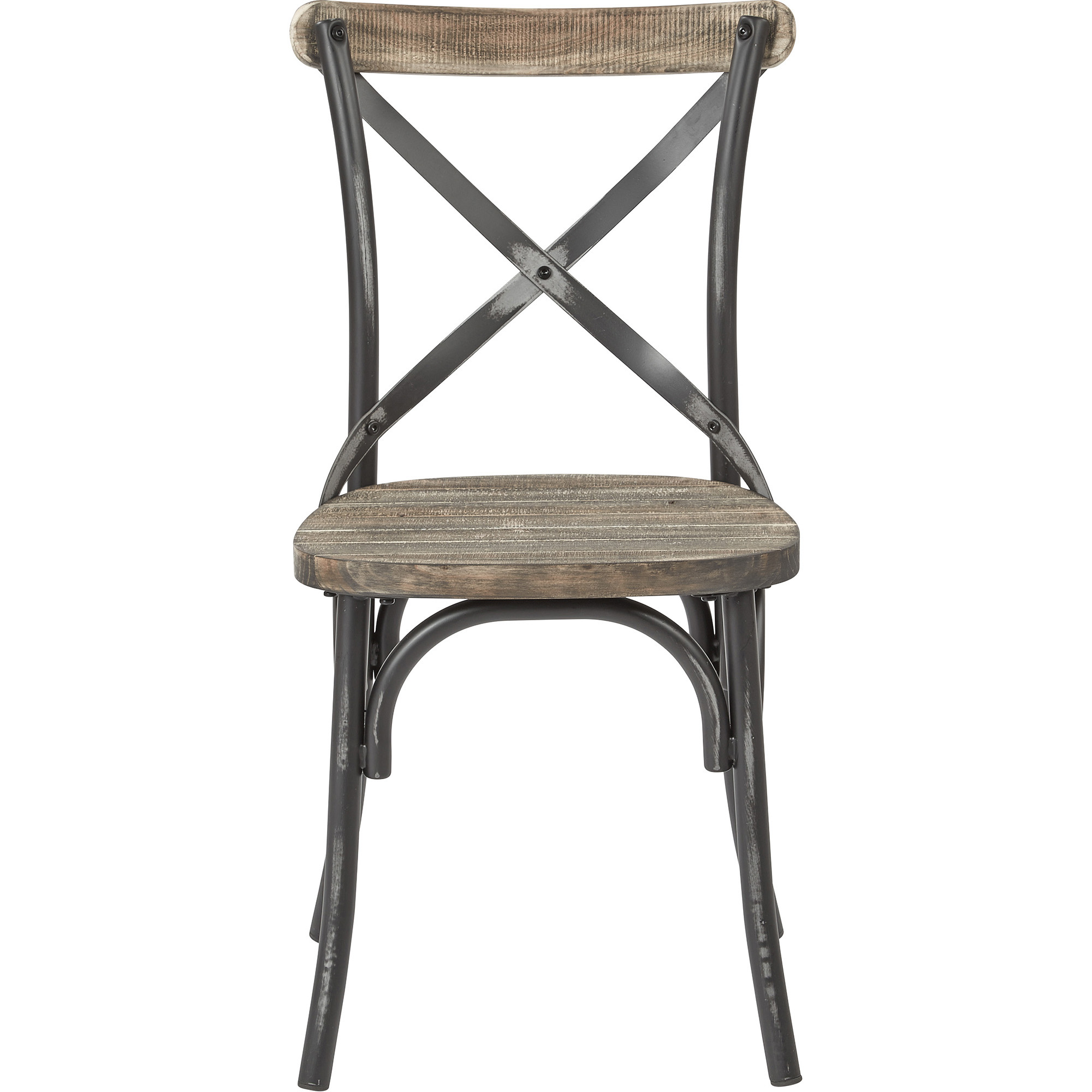 OSP Designs Somerset X Back Antique Metal Dining Chair Walmart