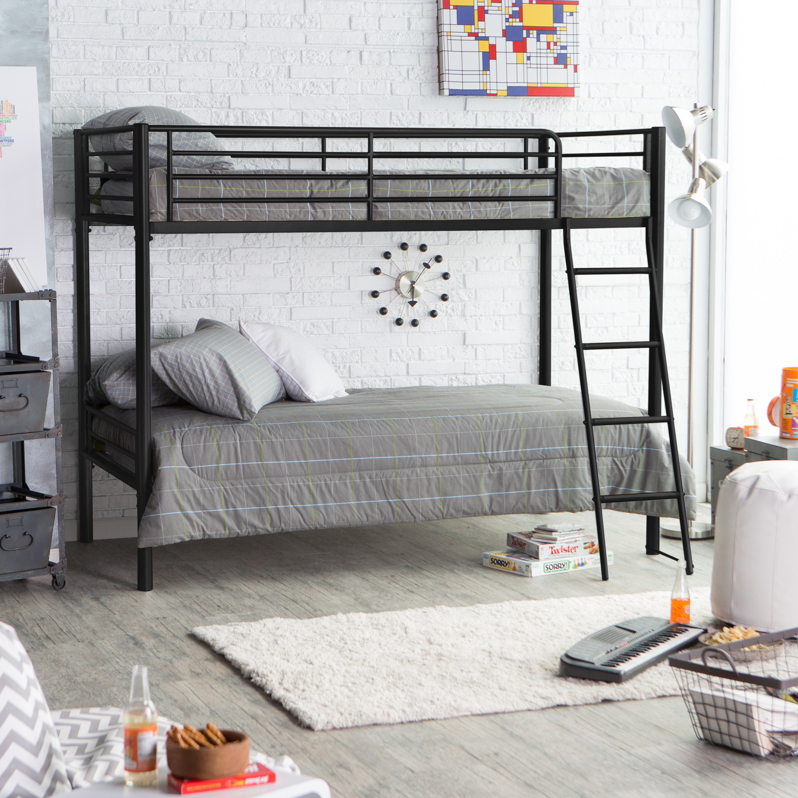 Duro Chicago Twin over Twin Bunk Bed Black by BL Packaging PTE Ltd