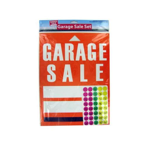 Bulk Buys GL190-72 Garage Sale Sign and Sticker Set