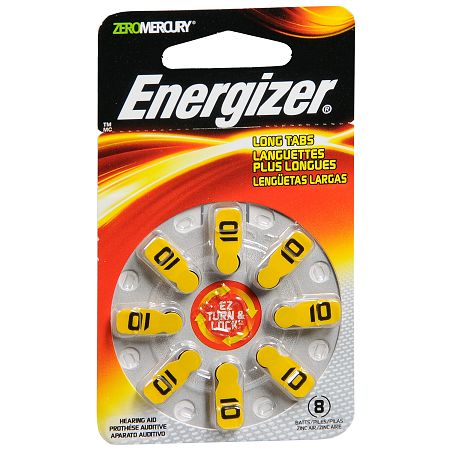 Energizer Hearing Aid Batteries 10 8.0 ea(pack of 1)