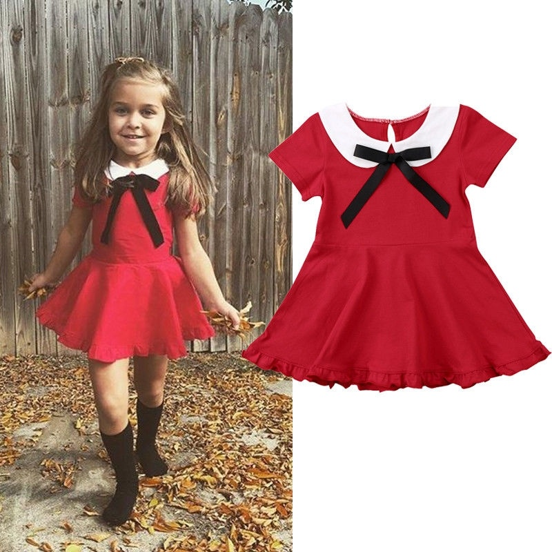 Kids Girl Baby Toddler Ruffle Tutu Princess Dress Birthday Pageant Dress Clothes