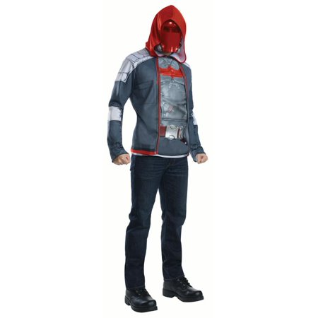 Men's Muscle Chest Red Hood Adult Halloween Costume - Little Red Riding Hood Grandmother Costume