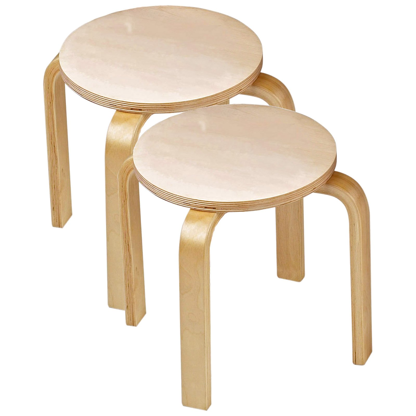Anatex Wooden Sitting Stools Set of Two by Anatex