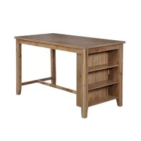 Furniture of America Ferndale Rustic Counter Height Kitchen Island Table (Natural Tone)