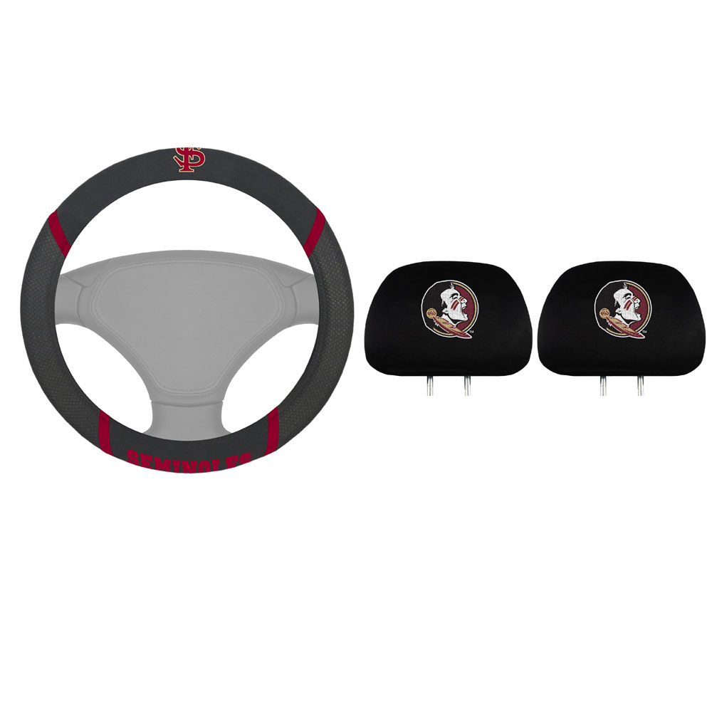Florida State Seminoles 2 Headrest Covers And Wheel Cover