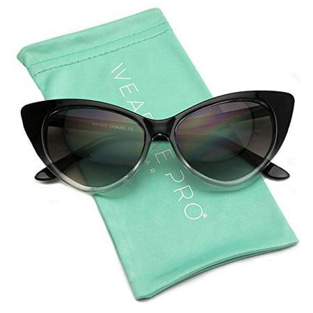14f112db65 WearMe Pro - WearMe Pro - Super Cat Eyes Vintage Inspired Fashion Mod Chic  High Pointed Sunglasses - Walmart.com