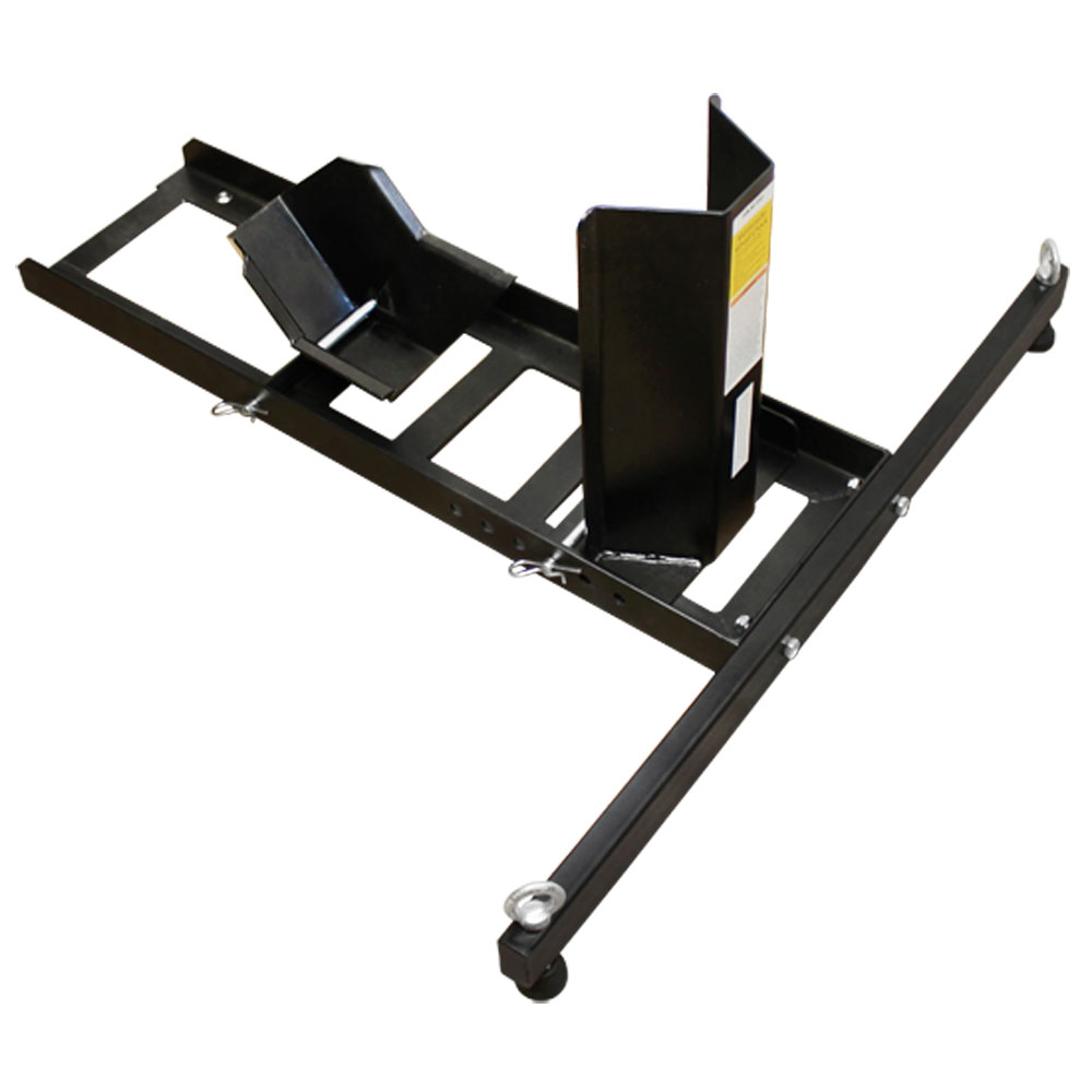 motorcycle wheel chock stand mount truck trailer floor lift stand