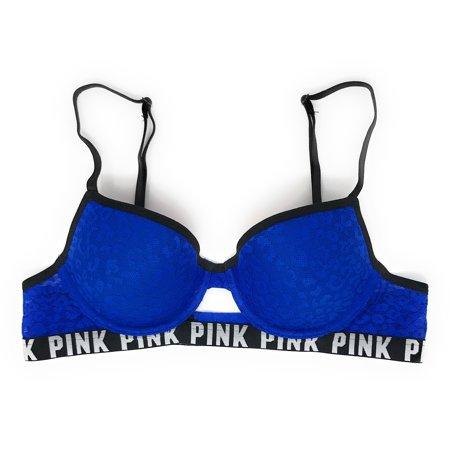 f3b79837134b3 Victoria s Secret - Victoria s Secret PINK Leopard Lace Lightly Lined Demi  Bra - Walmart.com