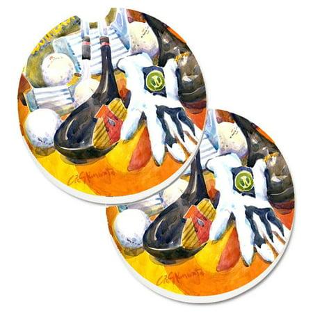 Golf Clubs Ball & Glove Set of 2 Cup Holder Car Coaster - image 1 de 1