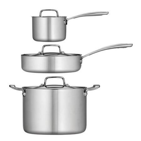 - Tramontina 6-Piece Stainless Steel Tri-Ply Clad Essentials Bundle