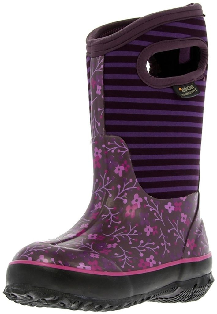 "Bogs Boots Girls Kid 10"" Classic Flower Stripe WP Rubber 71560 by Bogs"