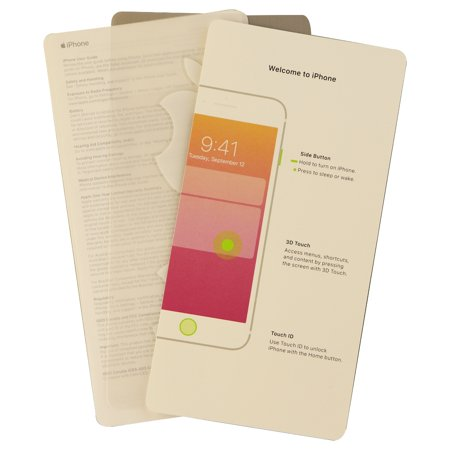 User Guide and Welcome Card for Apple iPhone 8 - Includes Stickers and SIM  Tool