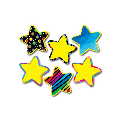 Creative Teaching Press Poppin Pattern Stars Jumbo Bulletin Board Cut Out
