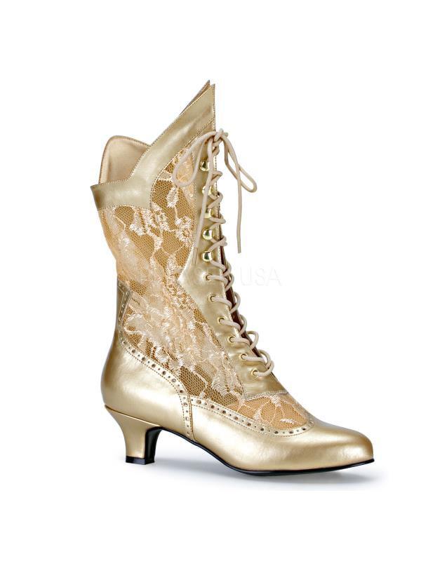 DAME115/G/PU Funtasma Women's Boots GOLD Size: 12