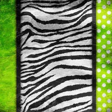 Lime Zebra Dots Poster Print by Jace Grey ()