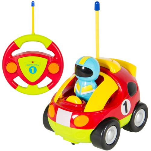 2 Channel Kids Beginner Remote Control Cartoon Racing Car Perfect Gift