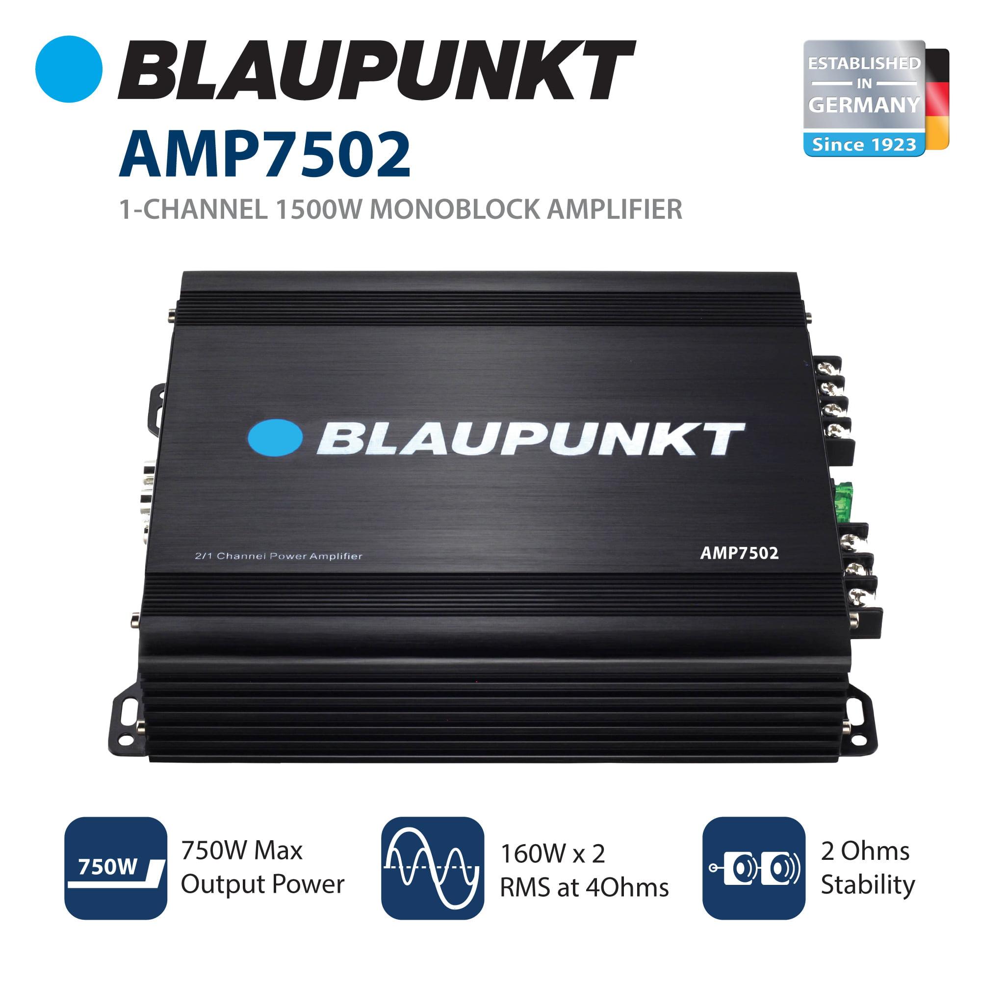 Blaupunkt AMP1501 Car Monoblock Amplifier 1-Channel 1500W