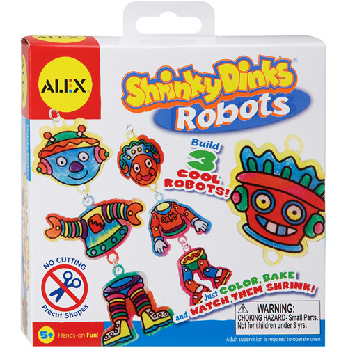 ALEX Toys - Shrinky Dinks Kit, Robots Jewelry
