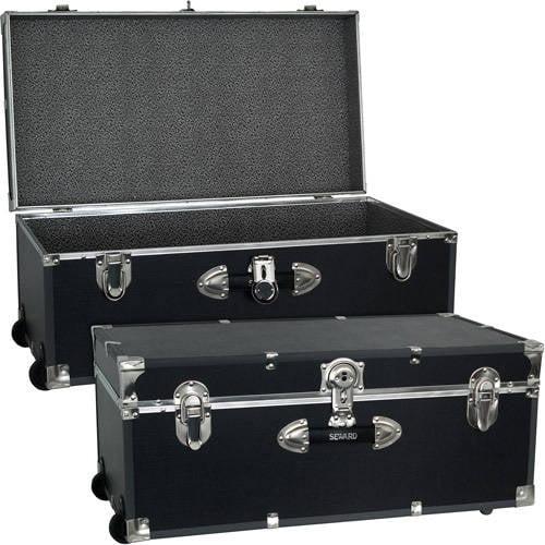 "Mercury Luggage Seward Trunk Wheeled Storage Footlocker, 30"""