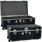 Mercury Luggage Seward Trunk Wheeled Storage Footlocker, 30""
